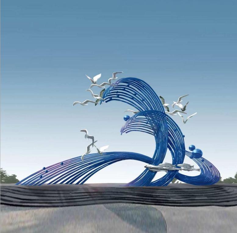 海滨景区不锈钢雕塑