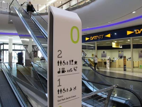 大型购物中心导向标识系统不能忽略的三大元素