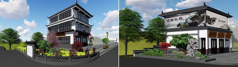 土山古镇景区王家大院党建文化建设-景观景点