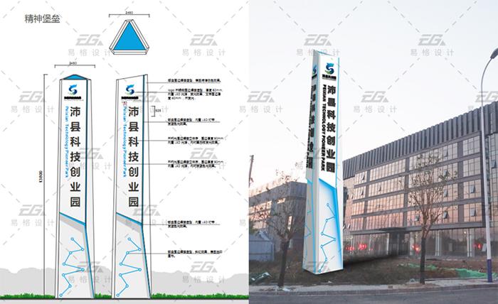 沛县科创园标识导视设计案例5